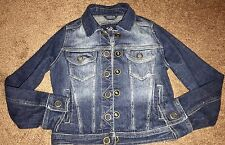 GIRLS Justice Denim Jean jacket Size 10 Trendy Free Shipping