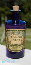 Deep PURPLE antique COLGATE Italian Violets PERFUME fancy EMBOSSED bottle