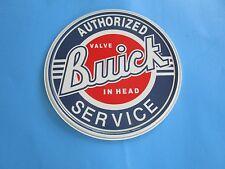 metal tin auto classic car gm buick dealer authorized sales service valve 185