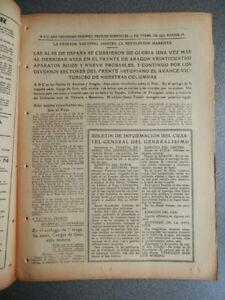 AVANCES ASTURIAS CANGAS ONIS BATALLA AVIACIÓN PERIÓDICO GUERRA CIVIL 13/10/1937