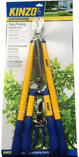 KINZO 3PCS GARDEN PRUNING SET LOPPER SHEARS AN PRUNER HEDGE TRIMMER CUTTER SHEAR