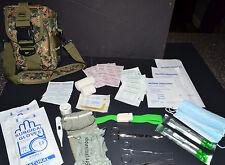 Trauma IFAK First Aid Kit - Medic Bag 60+ pcs MOLLE Medical Pouch (Marpat Camo)