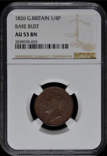:1826 FARTHING GREAT BRITAIN ENGLAND KM# 697 LOW POP NGC VF-25 HIGHEST GRADES
