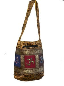 om patches jhola bag women indian boho tote bag crossbody bag hippie bag