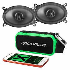 "Pair MTX THUNDER46 4x6"" 160 Watt 2-Way Coaxial Car Speakers+Bluetooth Speaker"