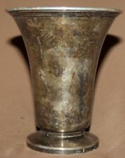 Antique silver plated mug cup
