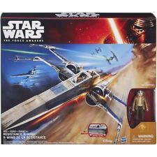 Hasbro Star Wars The Force Awakens BLUE COMMANDER & X-WING Star Fighter MISB