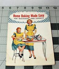 Vtg 1953 Home Baking Made Easy Cook Book