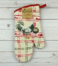 Oven Mitt Kay Dee Designs Kitchen Rooster Plaid