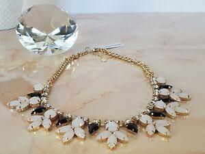 NWT Susan Graver Light Pink & Black Crystal Gems Rhinestone Statement Necklace