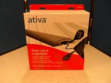 "Ativa Floor Cord Organizer 6' 2.5"" Protect Cords - Grey Heavy Traffic"