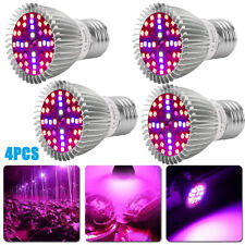 4x 28W Full Spectrum E27 E26 Led Grow Light Bulb Lamp for Veg Bloom Indoor Plant