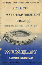 Wakefield Trinity v Wigan 11 May 1963 Challenge Cup Final  RUGBY LEAGUE PROG