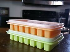 Mini Ice Cube Trays & Cover Lid Small Office Dorm Frig, RV & Camper Kitchen 2PK
