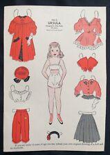 1952, Ursula Mag. Paper Dolls, Wee Wisdom Mag.,Dorothy Wagstaff Artist