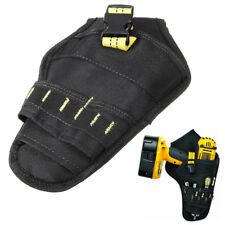 Drill Holster Cordless Tool Holder Pocket Loops Heavy Duty Tool Belt Pouch Bag