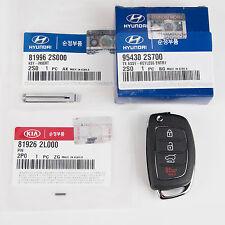 Genuine OEM Hyundai Keyless Remote Control Folding Key (3PC) 11-12 Tucson ix35