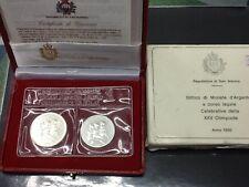 105ma) San Marino Dittico 1992 XXV Olimpiade FDC 1000, 500 Lire Ag. Zecca