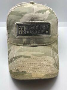 Bass Pro Shops Camouflage Fishing/Hunting Adjustable Snapback Hat/Cap Mesh