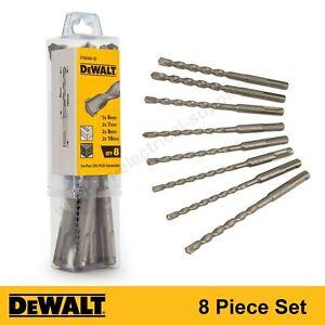 DeWalt SDS Plus Masonry Drill Bit Set Brick Stone Concrete - 8 Piece Set