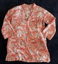 Anokhi Koki Orange Peacock Tunic Size 4-5 Years