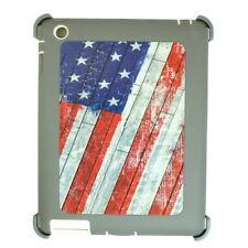 Shockproof Defender Case iPad 2/3/4 Triple Layer (Stand fits Otterbox) Usa Flag