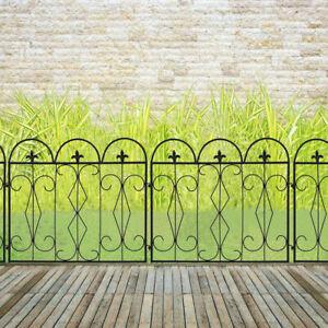 5pc Rustproof Metal Garden Fencing Panel Animal Barrier Folding Edge Wire Border