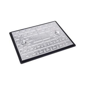 CLARKE DRAIN PC6BG 5T GALVANISED STEEL MANHOLE COVER AND FRAME 600MM x 450MM