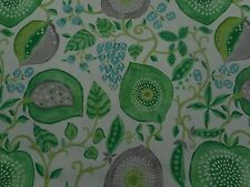 Sanderson Curtain Fabric 'Peas & Pods' Leaf Green/Ivory 2.7 METRES - Linen Blend