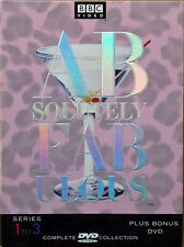 ABSOLUTELY FABULOUS - COMPLETE COLLECTION SERIES 1 TO 3 + BONUS DVD - BBC VIDEO