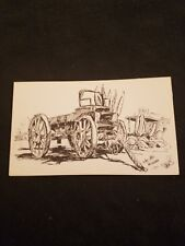 Silver Ore Wagon Used in the Late 1880's by Loretta Musgrave - Old Postcard