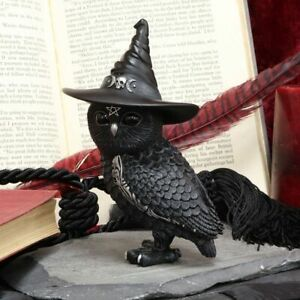 NEW Owlocen - Witches Owl Figurine - Wicca - Owls -  Occult/Witchcraft -  13cm