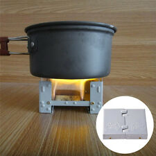 Portable Pocket Solid Fuel Stove Foldable Backpacking Emergency Camping Survival