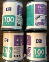 Bundle Of 4 - HP DVD+r 8x RW 100 Pack - 400 Total Discs - Free Shipping Included