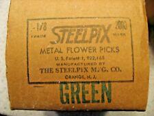 "Box of 2000 Steelpix Metal Flower Picks 2-1/8"" GREEN"