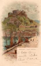 Jersey Mont Orgueil Vignette artist EWH old pc used  Faulkner