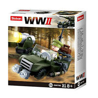 Sluban Kids Army Vehicle Building Blocks WWII Series Building Toy Army Fighter