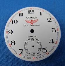 Vintage ARMIDA Pocket Watch Dial 38.5mm -Swiss Made- T.C.D DEMYRIOLU  #108