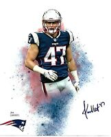 Jacob Hollister New England Patriots Autographed hand signed 8x10 photo JSA/Coa