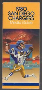 1980 CHARGERS MEDIA GUIDE/GRADES EXCELLENT/NO CREASES/DAN FOUTS