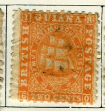 BRITISH GUIANA; 1860 early classic QV issue fine used 2c. value
