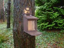 Handmade Eco friendly  Wooden Squirrel Feeder by Homes for Woodland Folk