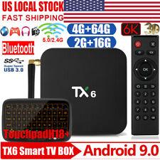 TX6 Android 9.0 6K UHD Dual WiFi BT 16/64G Quad Core TV BOX US 3D Media Player