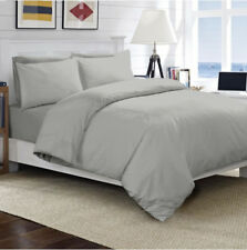 100 Egyptian Cotton Duvet Quilt Cover Set Single Double King Size Bed Sheets Silver King