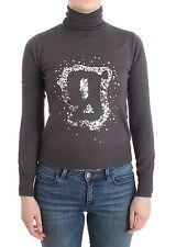 NWT $350 JOHN GALLIANO Purple Turtleneck Jumper Lightweight Sweater Logo XXS/US2