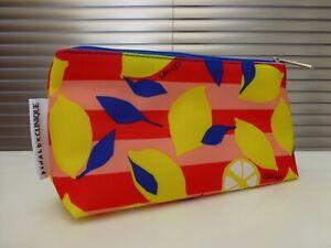 Donald x Clinique Lemons Design Pink Make Up Bag / Cosmetic Bag / Purse. NEW.