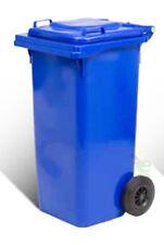 Bidone pattumiera per spazzatura nettezza urbana blu con ruote resistenti LT 120