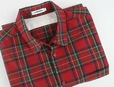 J. LINDEBERG Men's L Slim Spread With Patch Pocket Checked Casual Shirt 25178_JS