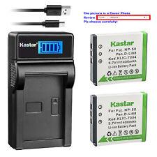 Kastar Charger Battery Fujifilm NP-50 NP50 Kodak KLIC-7004 K7004 Pentax D-Li68