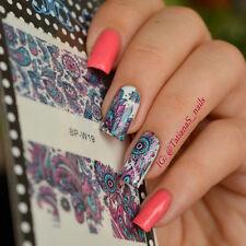 2 Patterns/Sheet Flower Nail Art Water Decals Sticker Born Pretty BP-W19